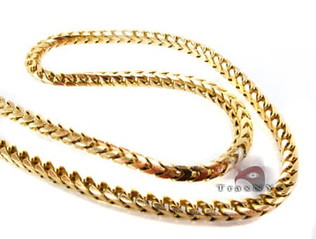 Yellow Super Solid Franco 36 Inches, 106.6 Grams Gold
