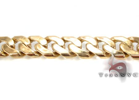 Yellow Gold Miami Link Chain 26 Inches, 161.8 Grams Gold