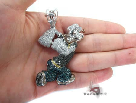 Popeye the Sailor Man Pendant Metal