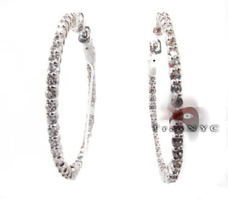 Sterling Silver Hoop Earrings 4 Metal