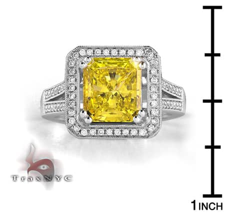 Ladies Canary Crown Ring Anniversary/Fashion