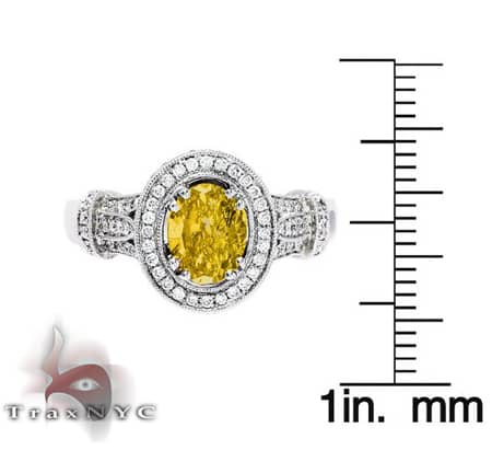 Ladies Canary Sun Ring Anniversary/Fashion