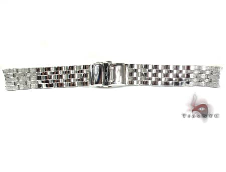 Joe Rodeo White Stainless Steel Band 20mm Semi Iced Watch Accessories