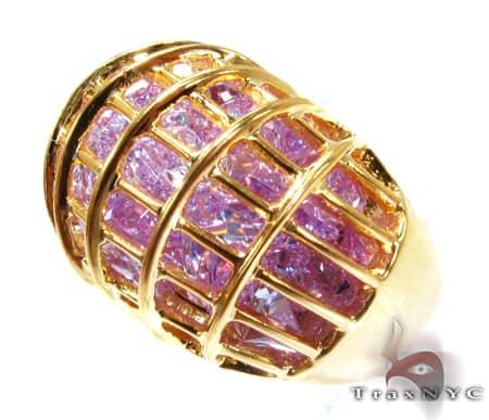 Ladies Caged Stones Anniversary/Fashion