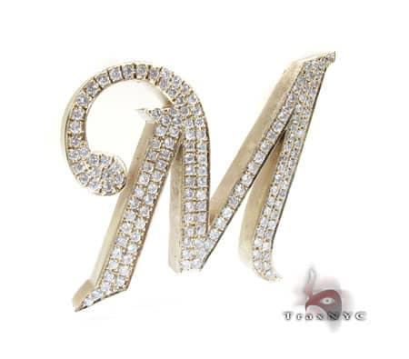 XL Initial M Pendant Metal
