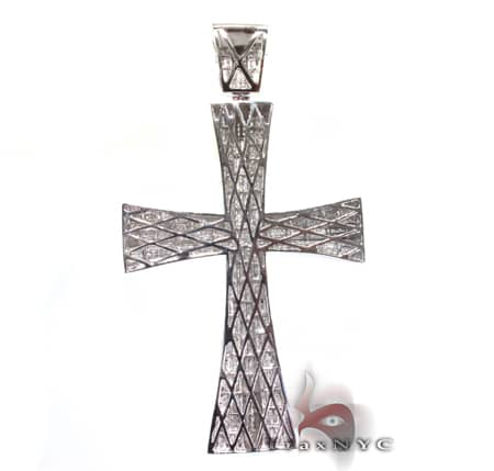 VS Double Mount Cross Crucifix Diamond