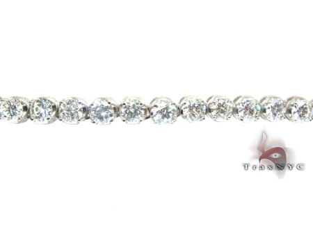 White Gold Diamond Chain 24 Inches, 5mm, 54.2 Grams Diamond