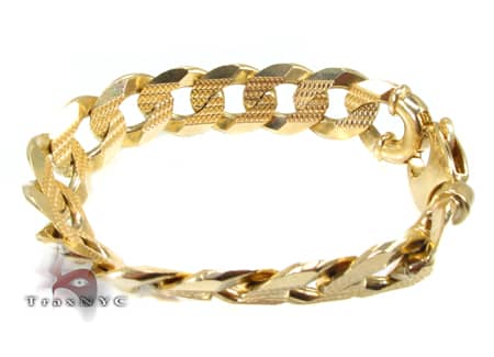 Yellow Gold Cuban Bracelet 91 Grams Gold