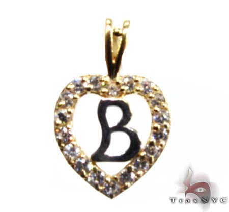 Golden B Pendant Metal