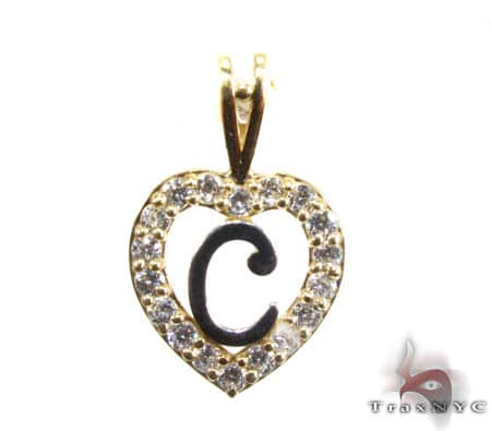 Golden C Pendant Metal
