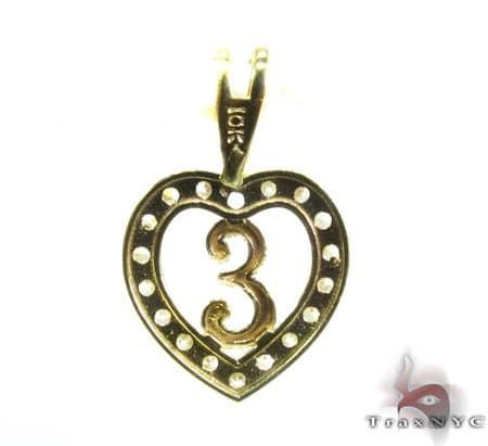 Golden E Pendant Metal