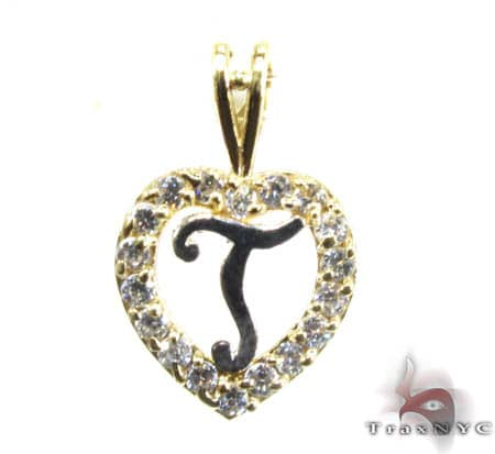Golden T Pendant Metal