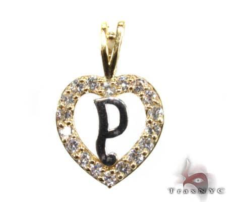 Golden P Pendant Metal