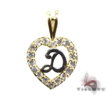 Golden D Pendant Metal