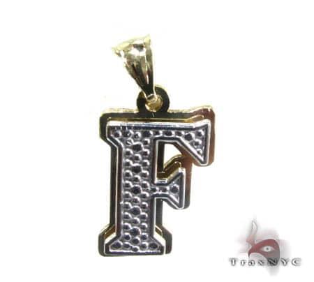 Initial F Pendant Metal
