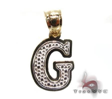 Initial G Pendant Metal