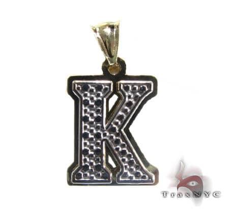 Initial K Pendant Metal