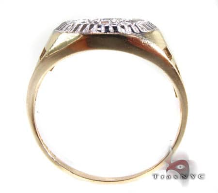Mens Zeus Shield CZ Ring Metal