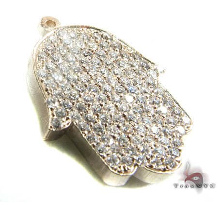 Diamond Hamsa Pendant Stone