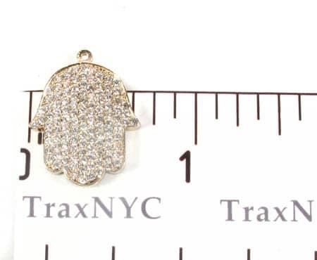Diamond Hamsa Pendant 9702 Stone