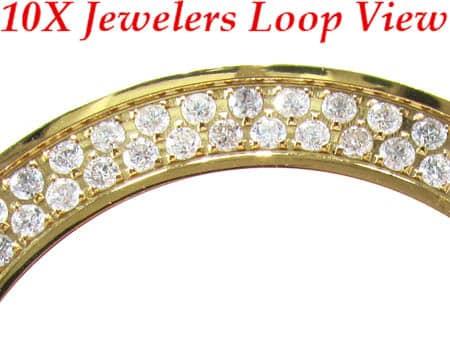 Yellow 2 Row Junior Bezel Watch Accessories