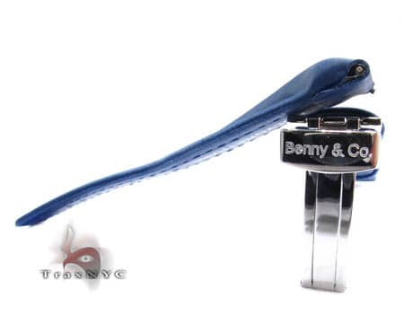 Benny & Co Ladies Navy Blue Polyurethane  Band Watch Accessories