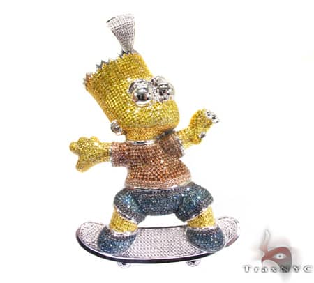 Custom Jewelry - Bart Simpson Pendant 2 Metal