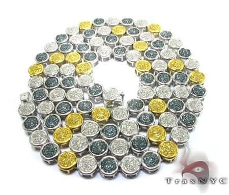 Multi Color Diamond Chain 33 Inches, 70 Grams Diamond