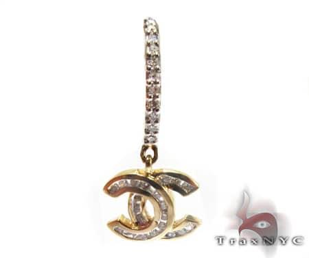 Y.G. Channel Cut Earrings Stone