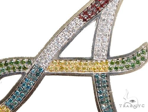 'A'  Diamond Initial Pendant 42370 Style