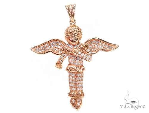 Angel Prong Diamond Pendant 42539 Metal