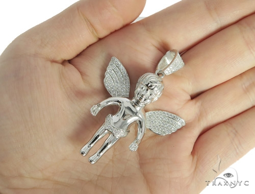 Angel Silver Pendant 56439 Metal