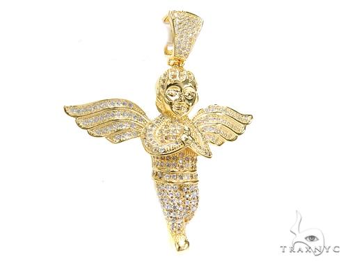 Angel Sterling Silver Pendant 42886 Metal