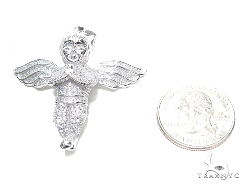 Angel Sterling Silver Pendant 42887 Metal