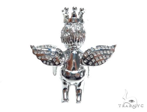 Angel with Crown Pendant 41531 Metal