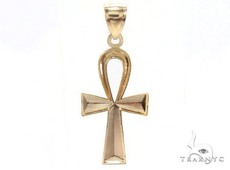 Ankh Pendant and 20 Inches Hollow Cuban Chain Set 61718 Style