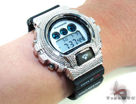 Aqua Master Diamond Shock Watch White Aqua Master