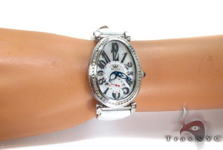 Aqua Techno Diamond Bezel Leather Band Watch Aqua Techno