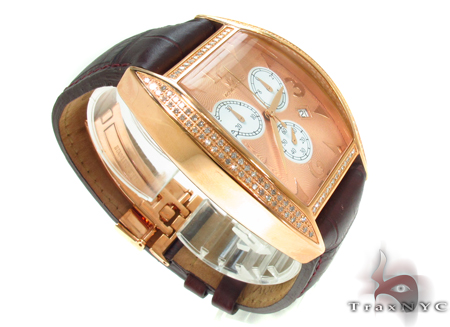 Aqua Techno Diamond with Brown Leather Watch Aqua Techno