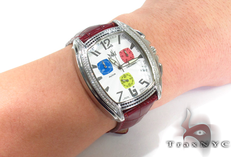 Aqua Techno Diamond with Red Leather Watch Aqua Techno