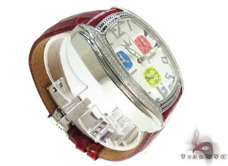 Aqua Techno Diamond with Red Leather Watch Aqua Techno