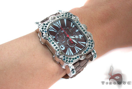 Aqua Techno Stainless Steel Blue Color Diamond Watch Aqua Techno