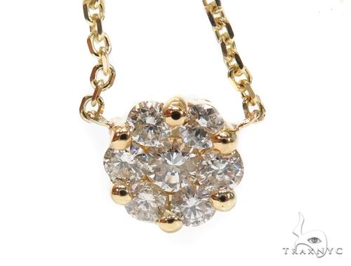 Aroa Prong Diamond Necklace 40812 Diamond