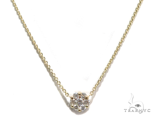 Aroa Prong Diamond Necklace 40812 Diamond