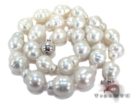 Sea Salt White Pearl Ladies Necklace Pearl