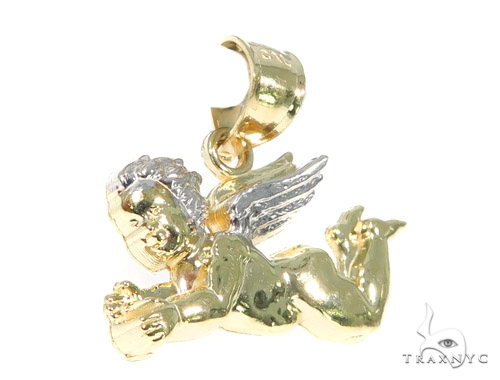 Baby Angel Gold Pendant 44934 Metal