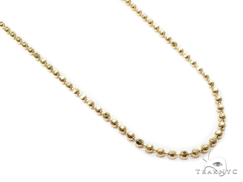 Ball Gold Diamond Cut Chain 22 Inches 3mm 13.2 Grams 40981 Gold
