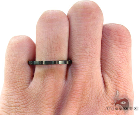 Mens Cheap Black Mountain Up Down Stainless Steel Ring Metal