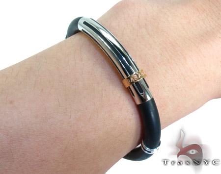 Baraka Two Tone Gold and Stainless Steel Diamond Bracelet BR21284 Diamond