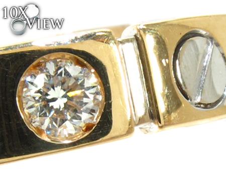 Baraka Two Tone Gold Diamond Ring Style
